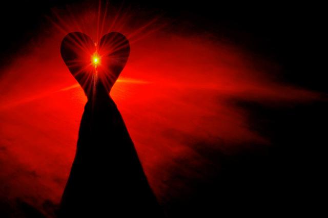 heart on mountain