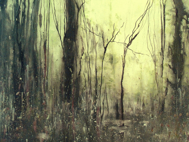 abstract forest art stephen hall flickr